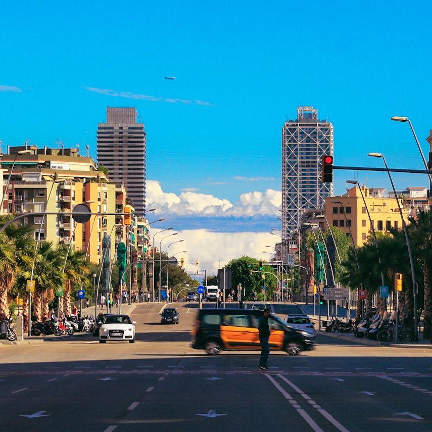 Barcelona Spain street scene surprised by our TEFL certificate graduate Poliana Ringheanu